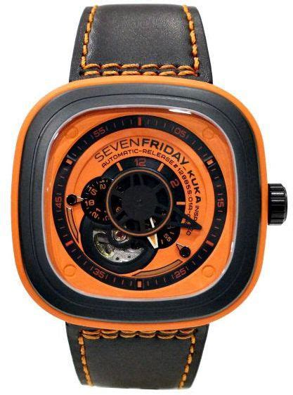 Seven Friday Sf M2 Yellow Black Leather Automatic analog digital watches sevenfriday souq