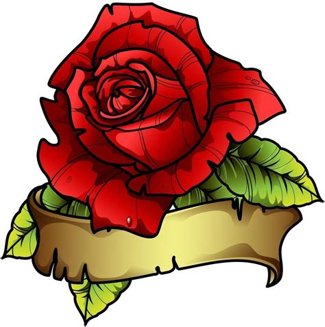 how to draw rose tattoos designs with banners free design templates