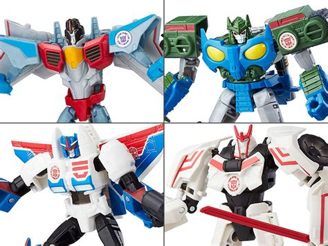 Transforners Combine Android E transformers robots in disguise warriors wave 9 set of 4