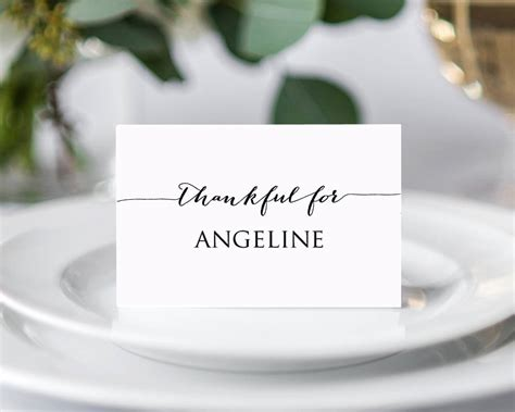 thanksgiving place cards diy wedding templates and