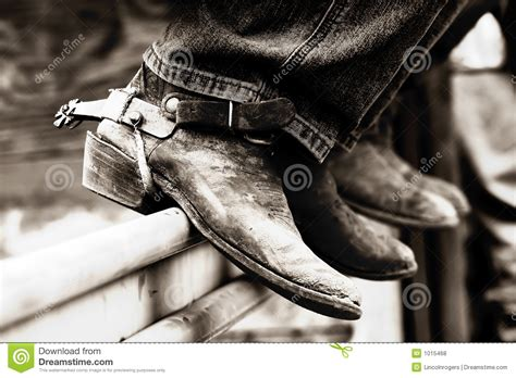 boots and spurs rodeo boots spurs bw royalty free stock photos image