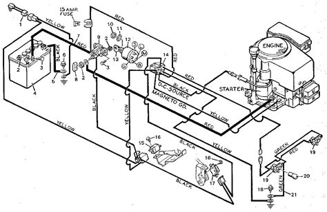 wiring diagram for murray lawn mower wiring