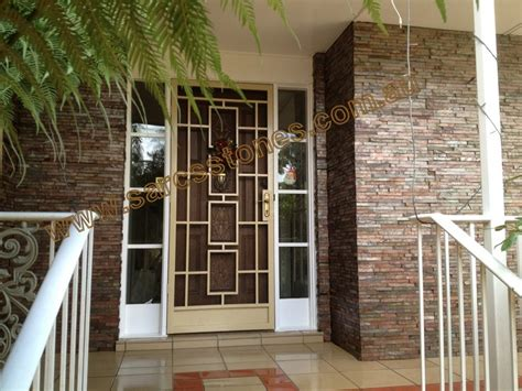 brown stone tile indian home front design with glass true local stones and tiles image copper stackstone