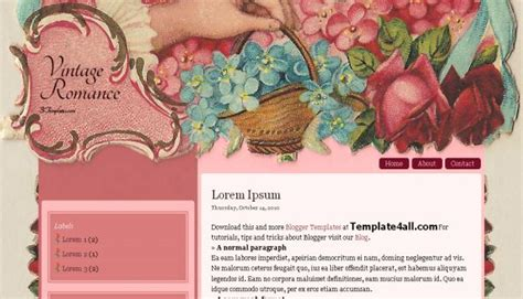 vintage templates for blogger free free pink vintage blogger template free cms