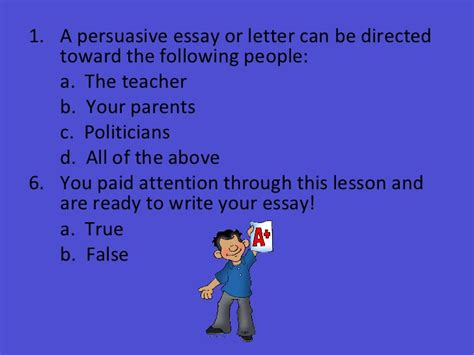 Research Strategies For Writing A Persuasive Essay by Persuasive Essay Lesson Plan Grade 5