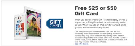 Ipad Gift Card With Purchase - best buy offering 50 gift card with ipad purchase