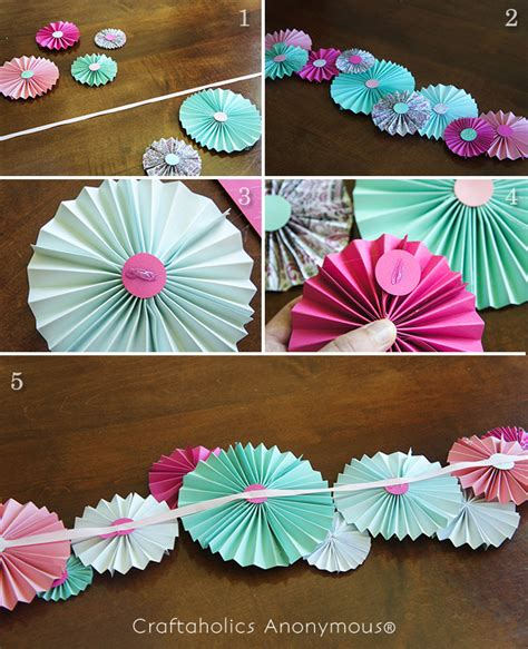 How To Make Circle Paper Fans - paper fan garland tutorial garlands and fans