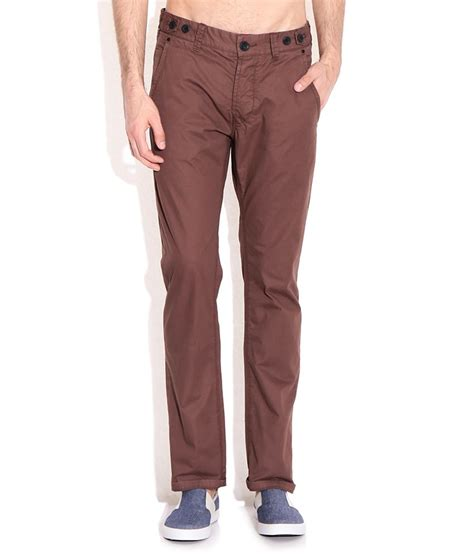 comfort fit chinos breakbounce brown comfort fit chino trousers buy