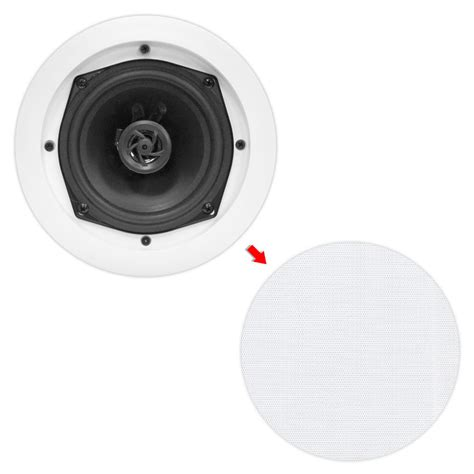 Flush Mounted Ceiling Speakers by Pylehome Pdic81rd In Wall In Ceiling Dual 8 Inch