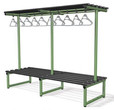 cl bench double side bench with overhanging rail cl edu quip