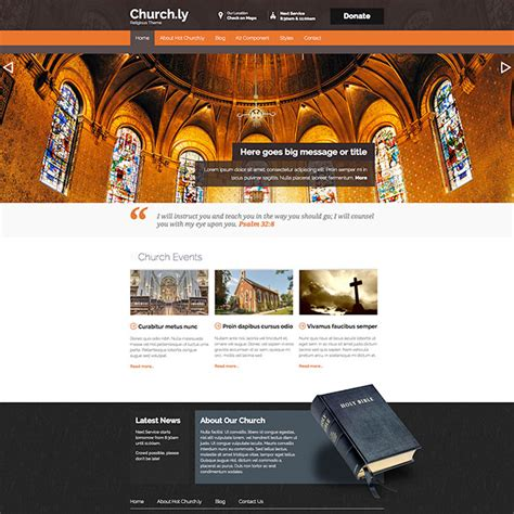 joomla church template churchly hotthemes
