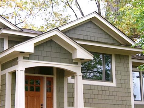 craftsman style exterior home makeover hgtv