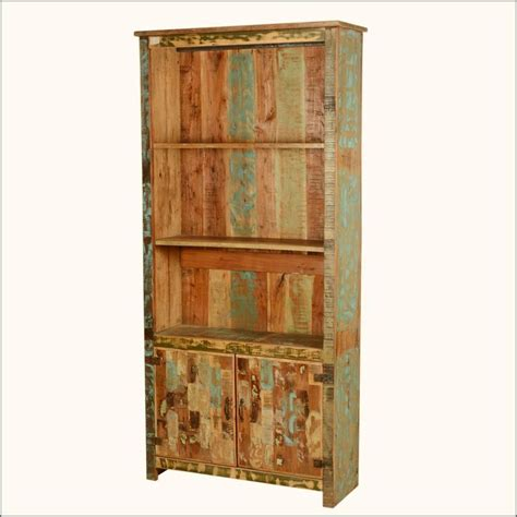 forest reclaimed wood 78 5 quot open bookcase w