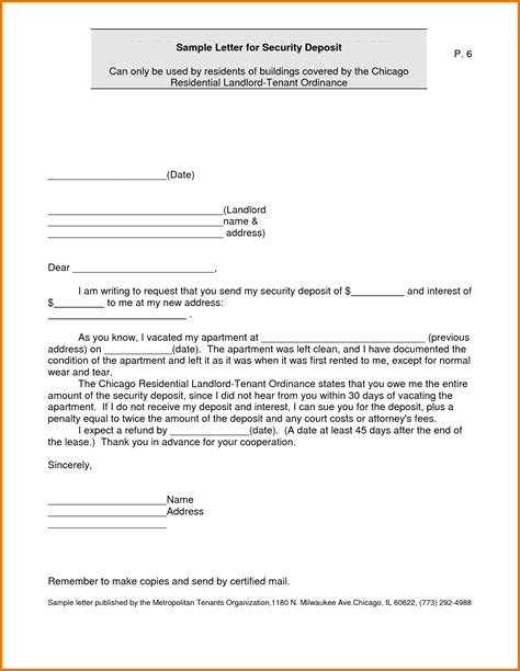 Dispute Letter For Security Deposit Sle Letter Request Refund For Sle Business Letter Request For Refund Writing