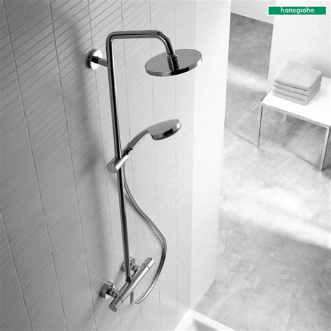 Hansgrohe Shower by Luxury Hansgrohe Croma 160 Showerpipe 270mm Shower Rainshower Set 27135 For Only 163 251 70