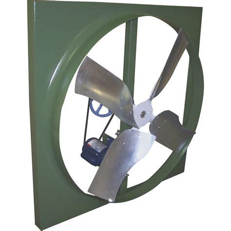 belt drive wall exhaust fan canarm belt drive wall exhaust fan 48in 3 4 hp 21 500