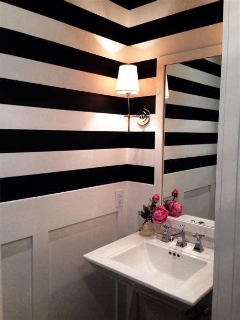 stripped bathroom ken sett lynn morgan design black white striped bathroom