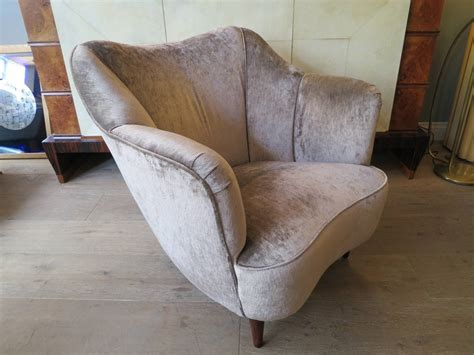 Curved Sofa Set by Italian 1950s Salon Suite Curved Sofa And Armchair Set At