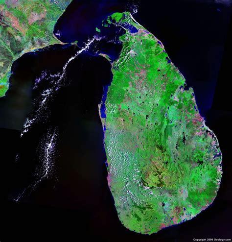 earth map sri lanka sri lanka map and satellite image