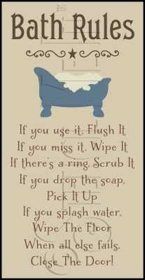 phrase similar to wipe the floor with you bath stencil