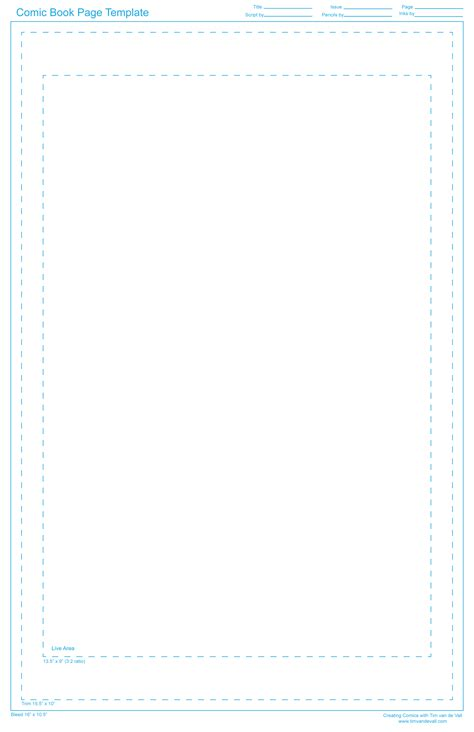 comic book page template tim de vall comics printables for
