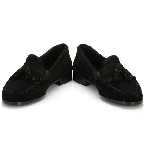 black suede loafers tower womens black suede tassel loafers casual
