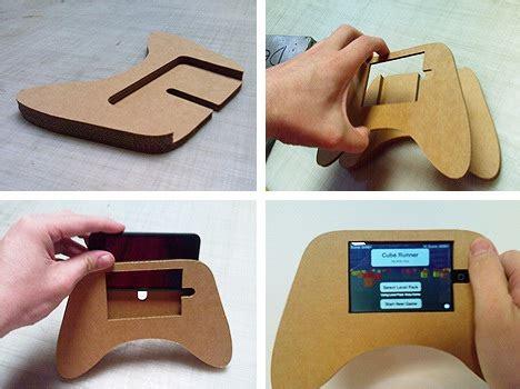 game console zelf maken zelf een iphone game grip maken van karton of triplex