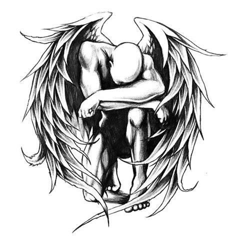 fallen angel tattoo design fallen design
