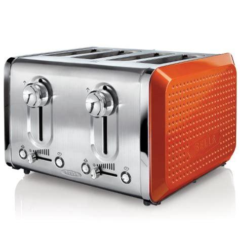 Aqua Toaster Oven Buy Bella 13792 Dots Collection 4 Slice Toaster Orange