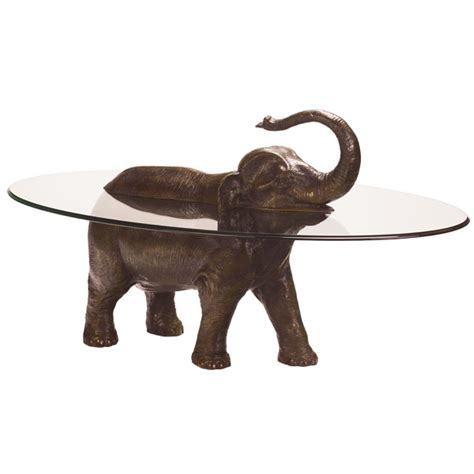 Elephant Glass Coffee Table Bespoke Bronze Sculpture Stoddart Elephant Coffee Table