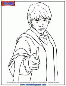 harry potter ron coloring pages