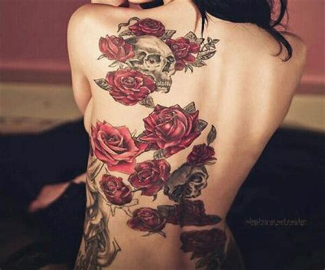 full body rose vine tattoo roses n skull tattoo from itattooz