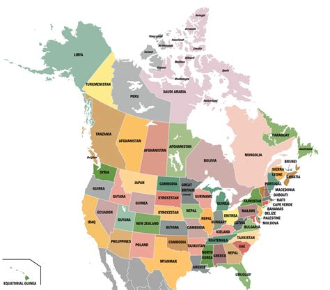 us states canada provinces map states islands provinces of the us and canada maps on