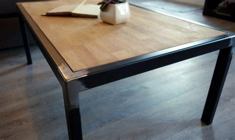 table basse bois et metal 99 table basse industrielle bois massif et m 233 tal fabrication