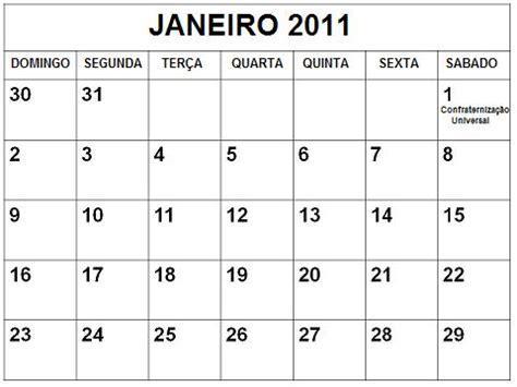 Calendario Janeiro Calend 193 Janeiro 2011 Feriados E Datas Comemorativas