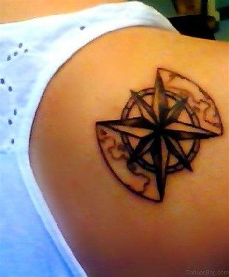 compass tattoo lower back 50 amazing compass tattoos on shoulder