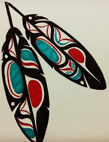 tribal eagle feather tattoo haida related keywords suggestions haida
