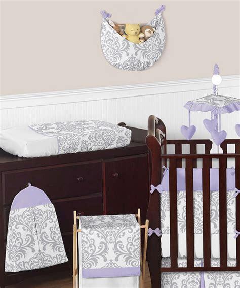Lavender And Grey Crib Bedding Boutique Designer Lavender Purple Grey White Damask Baby Crib Bedding Set