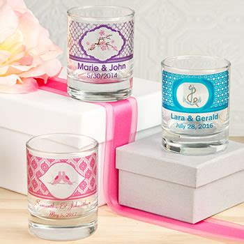 wedding favors at nice prices clearly custom votive shot glass holder with