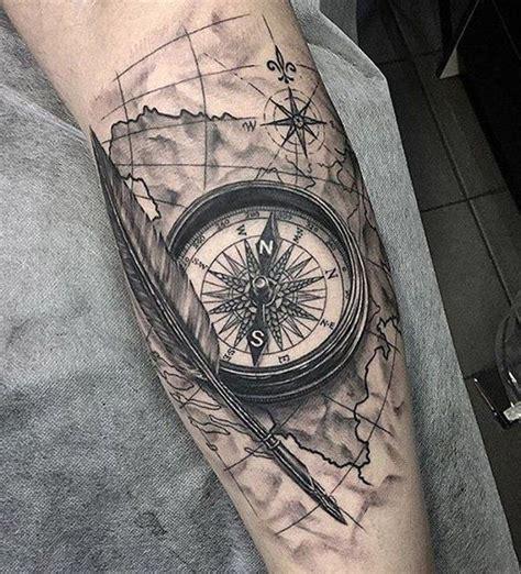 Compass Tattoo Vorlagen   100 awesome compass tattoo designs tattoo ideen tattoo