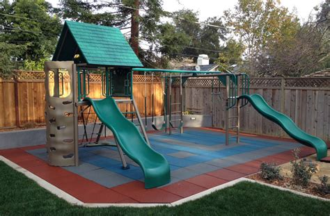 swing set rubber flooring safe play tiles rubber playground tiles
