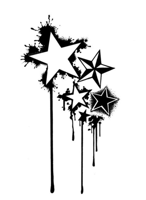 free star tattoo designs cliparts co