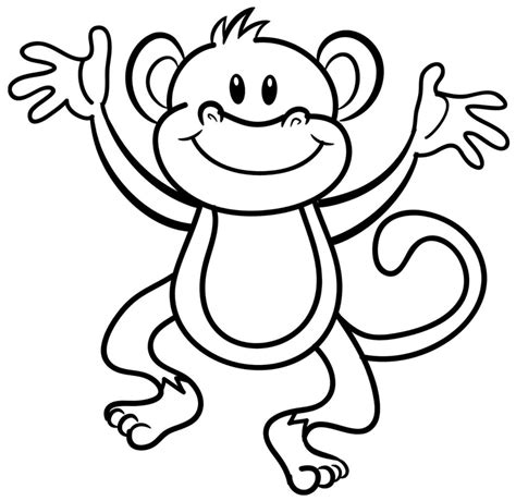 Big Printable Coloring Pages Coloring Pages Monkey Coloring Pages Printable Big