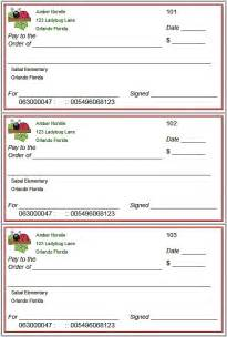Blank Check Template For Students by Blank Checks Template Printable Play Checks For