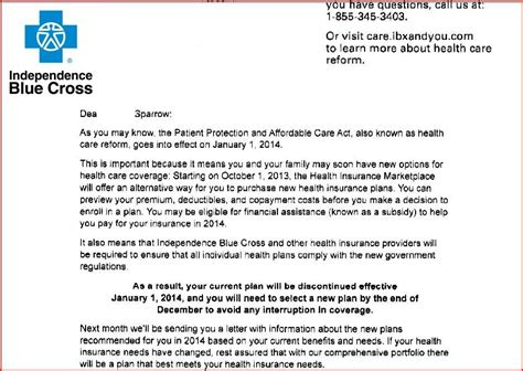 termination letter for insurance health insurance coverage termination letter docoments
