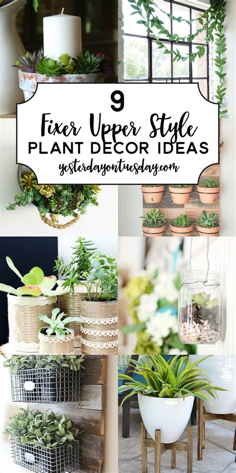 Style Decorations by 9 Fixer Style Plant Decor Ideas Yesterday On Tuesday