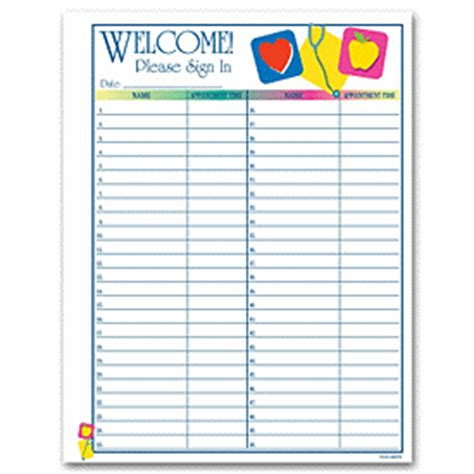 back to school sign in sheet template business forms icon design patient sign in sheet