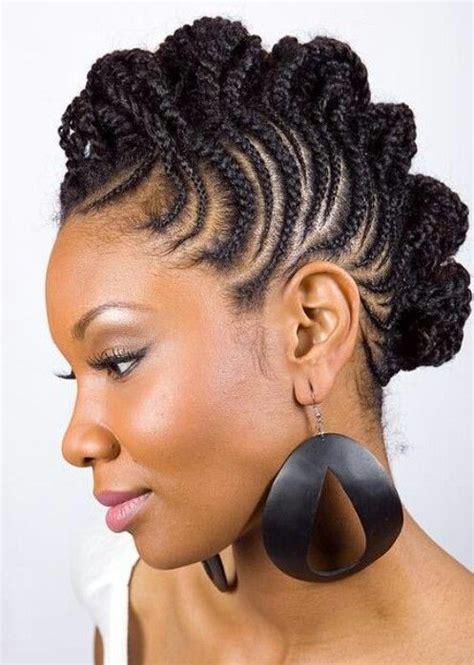 unique braids for black women braided faux hawk unique natural hairstyles pinterest