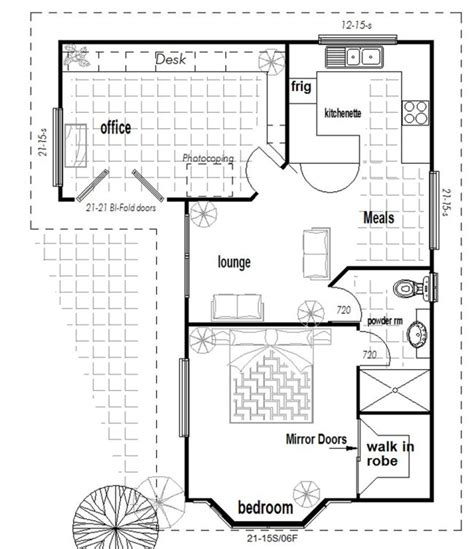 floor plan flat australian 1 or 2 bedroom granny flat with office new design