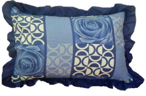 Set Tribal Biru 3in1 set cadar patchwork cotton bantal tidur kekabu
